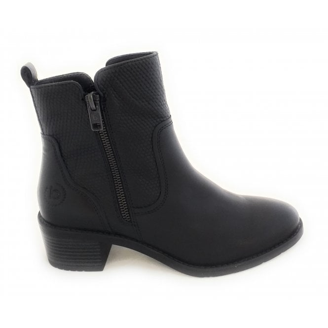 Bugatti 411-5623G Ruby Black Leather Ankle Boots