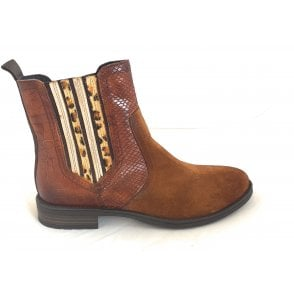 411-56931 Ronja Tan Suede Ankle Boots