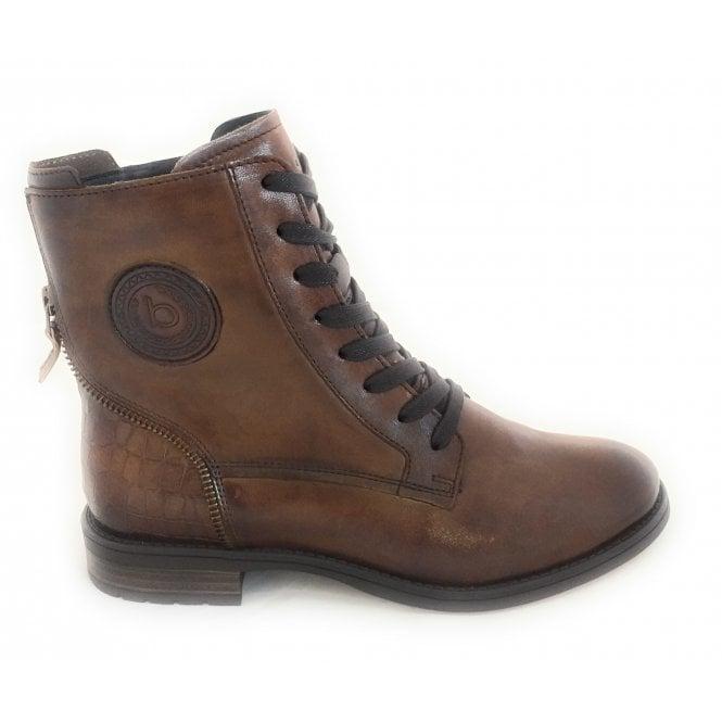 Bugatti 411-5693P Ronja Dark Brown Leather Ankle Boots