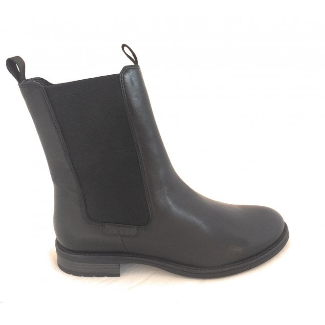 Bugatti 411-5693R Ronja Black Leather Chelsea Boots