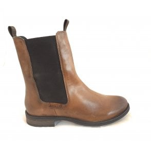 411-5693R Ronja Light Brown Leather Chelsea Boots