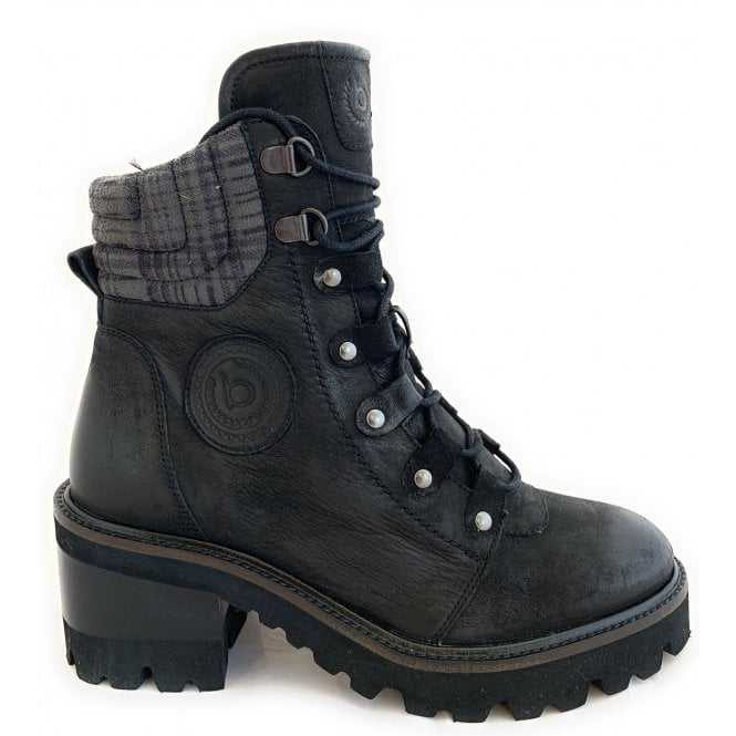 Bugatti 411-A4R33 Tai Black Leather Ankle Boots