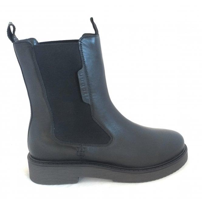 Bugatti 411-A4X30 Ronja Evo Black Leather Chelsea Boots