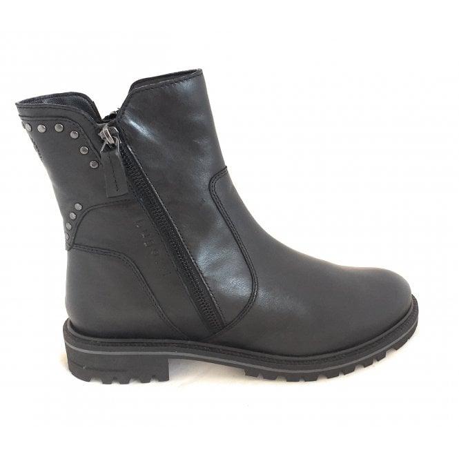 Bugatti 411-A4X53 Ronja Evo Black Leather Ankle Boots