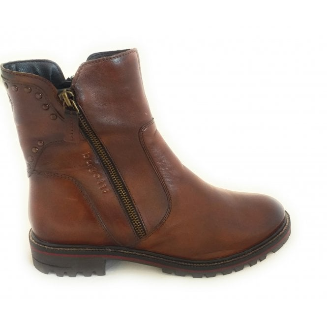 Bugatti 411-A4X53 Ronja Evo Brown Leather Ankle Boots
