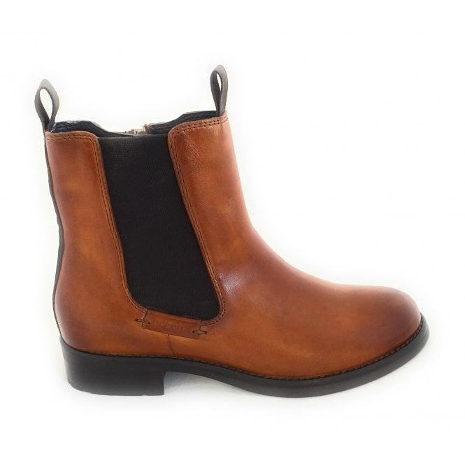 Bugatti 413-99836 Sinja Tan Leather Chelsea Boots