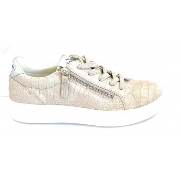 431-4071G-5850 Kelli Beige and Silver Trainers