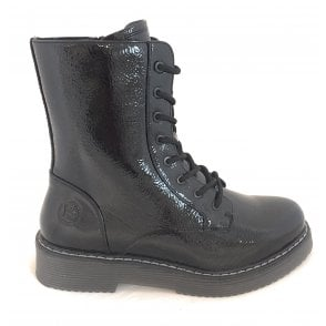 431-54931 Neria Black Patent Boots