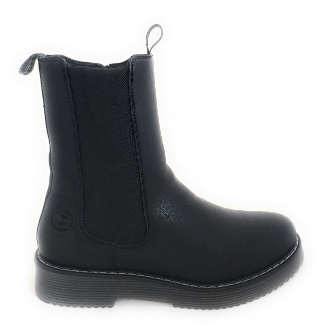 431-5493H Neria Black Faux Leather Chelsea Boots