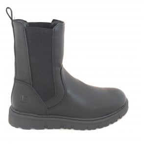 431-57433 Nica Black Faux Leather Chelsea Boots