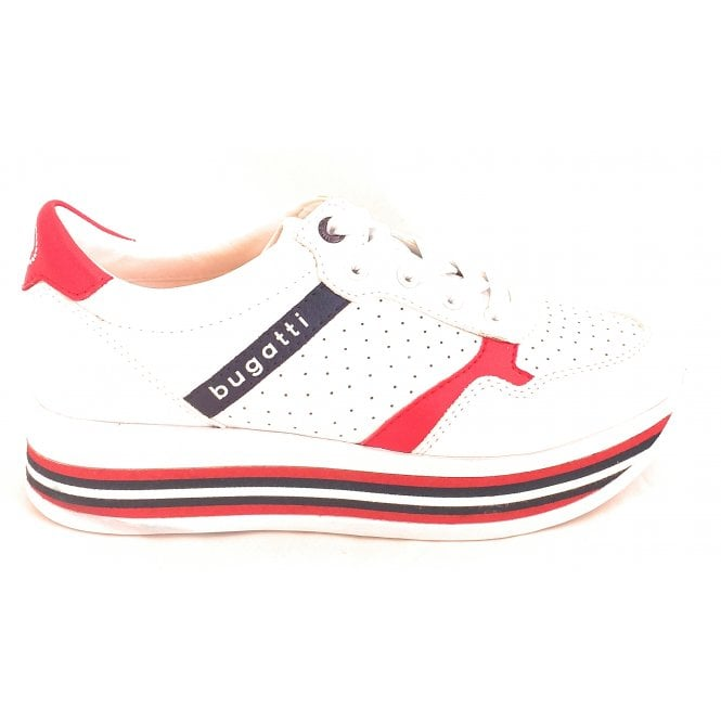 431-88002 Lian White and Red Trainers