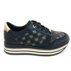 431-88010-5054 Lian Black and Gold Trainers