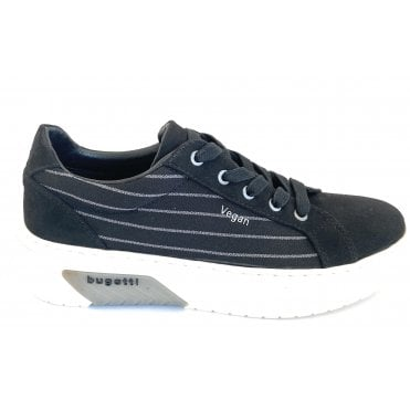431-99502-6469-1015 Olinda Black Vegan Casual Trainers