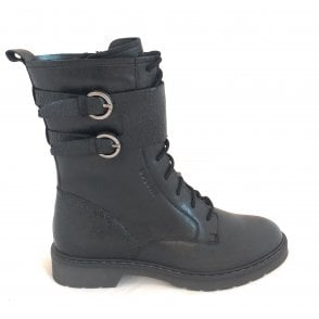 431-A4634 Modena Black Leather Boots