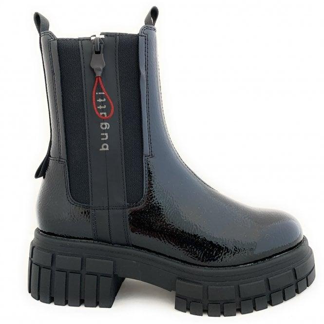 Bugatti 431-A4U32 Tonic Black Patent Chunky Chelsea Boots