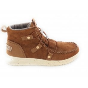 431-A4W31 Gin Tan Suede Moccasin Boots