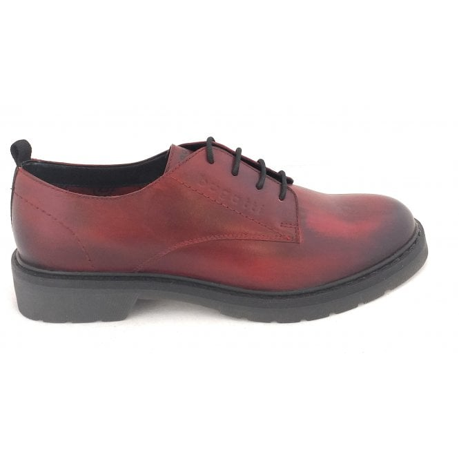 Bugatti 432-A4601 Modena Red Leather Lace-Up Shoes