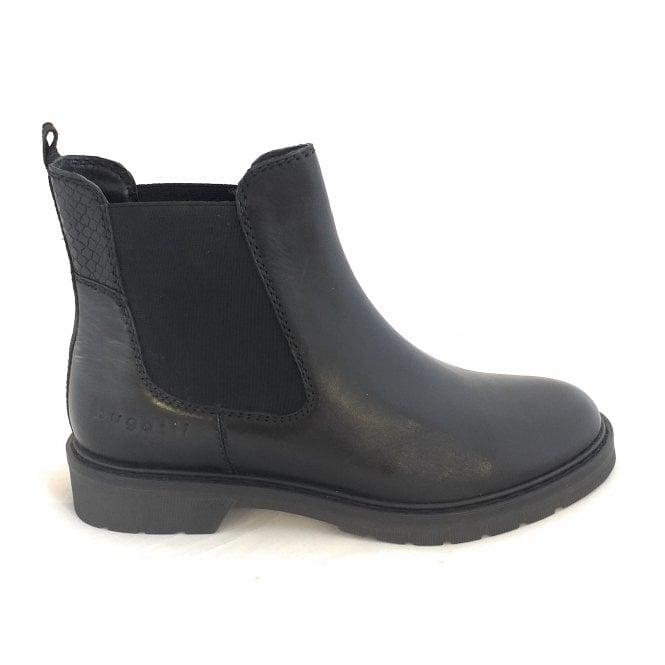 Bugatti 432-A4631 Modena Black Leather Chelsea Boots