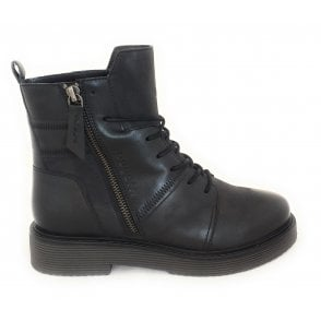433-5495H Neria Black Leather Boots