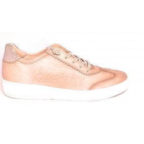433-A3V01 Ferly Beige Leather Trainers