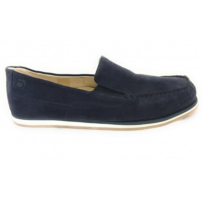 Rohde 5821 Havanna Navy Blue Suede Slip-On Mens Shoe