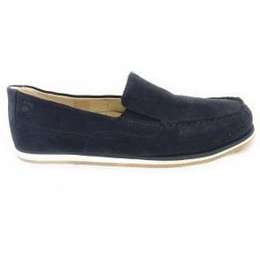 5821 Havanna Navy Blue Suede Slip-On Mens Shoe