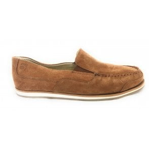 5821 Havanna Tan Suede Slip-On Mens Shoe