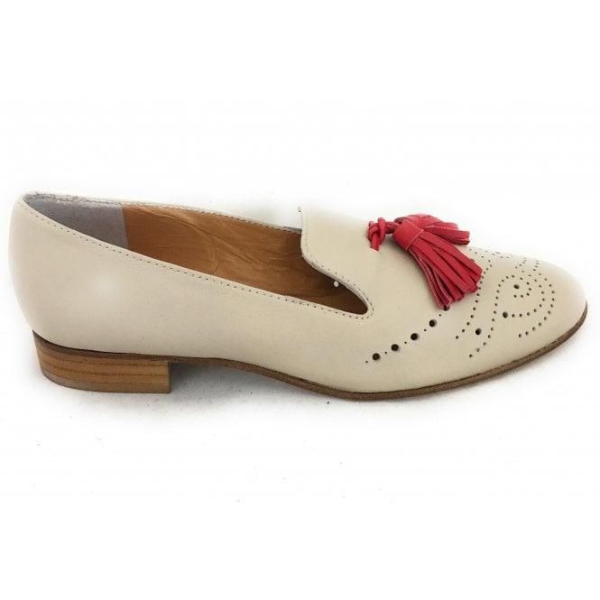 HB 6248 Beige Leather Loafer