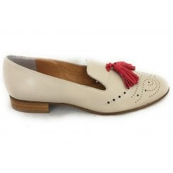 6248 Beige Leather Loafer