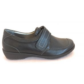 8010T London Black Leather Casual Shoes