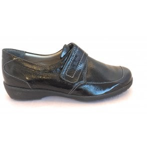 8010T London Black Patent Casual Shoes