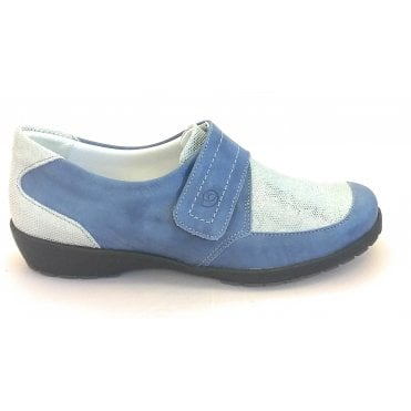 8010T London Blue Leather Casual Shoe