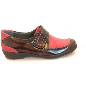 8010T London Burgundy Patent Casual Shoes