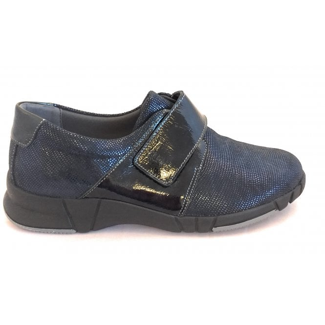 Suave 9203 Kyoto Navy Shimmer Print Casual Shoes