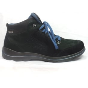 9994 Bergstrasse Mens Black Nubuck and Sympatex Lace-Up Casual Boot