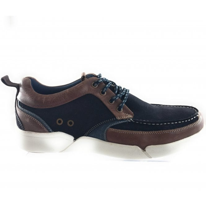 Lotus Abe Navy Suede Lace-Up Casual Shoe