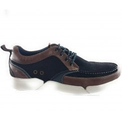 Abe Navy Suede Lace-Up Casual Shoe