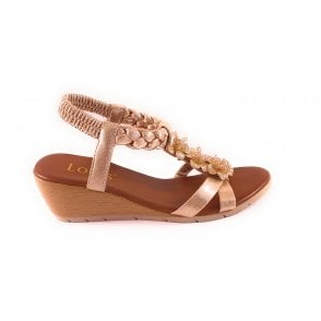 Aiana Gold Wedge Sandal
