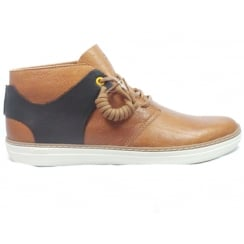 Aiden Tan Leather Lace-Up Casual Boot