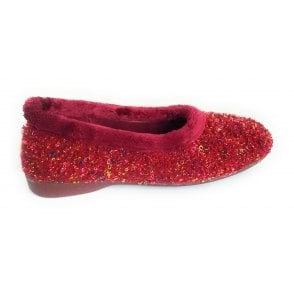 Alcazar Burgundy Slipper
