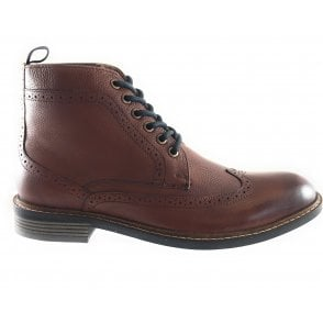 Aldridge Brown Leather Lace-Up Boot