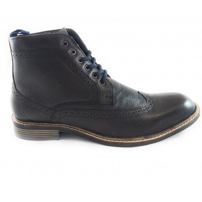 Lotus Aldridge Dark Brown Leather Lace-Up Boot