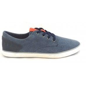 Alfa 321-50208-6900 Mens Blue Canvas Shoes