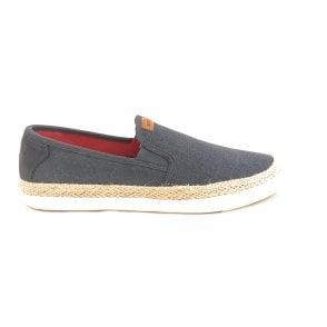 Alfa 321-50267-6900 Mens Dark Blue Espadrille Loafers