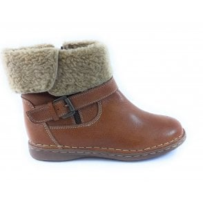 Ali Tan Leather Ankle Boot