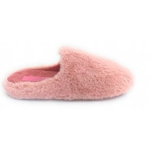 Alicante Pink Faux Fur Mule Slippers