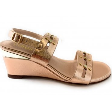 Alice Rose Gold Wedge Sandal