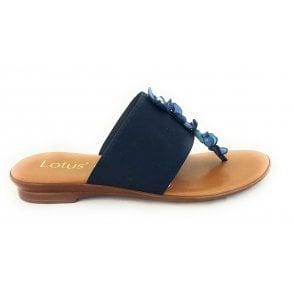 Alicia Navy Toe-Post Sandal