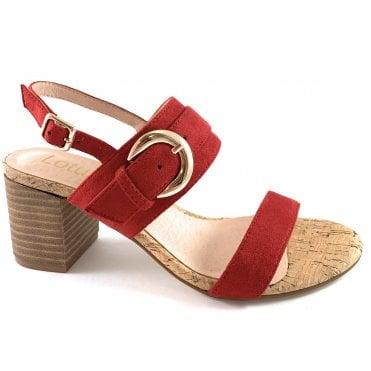 Almaya Red Heeled Sandal
