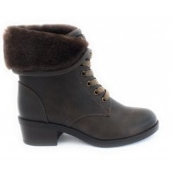 Althea Brown Lace-Up Boot